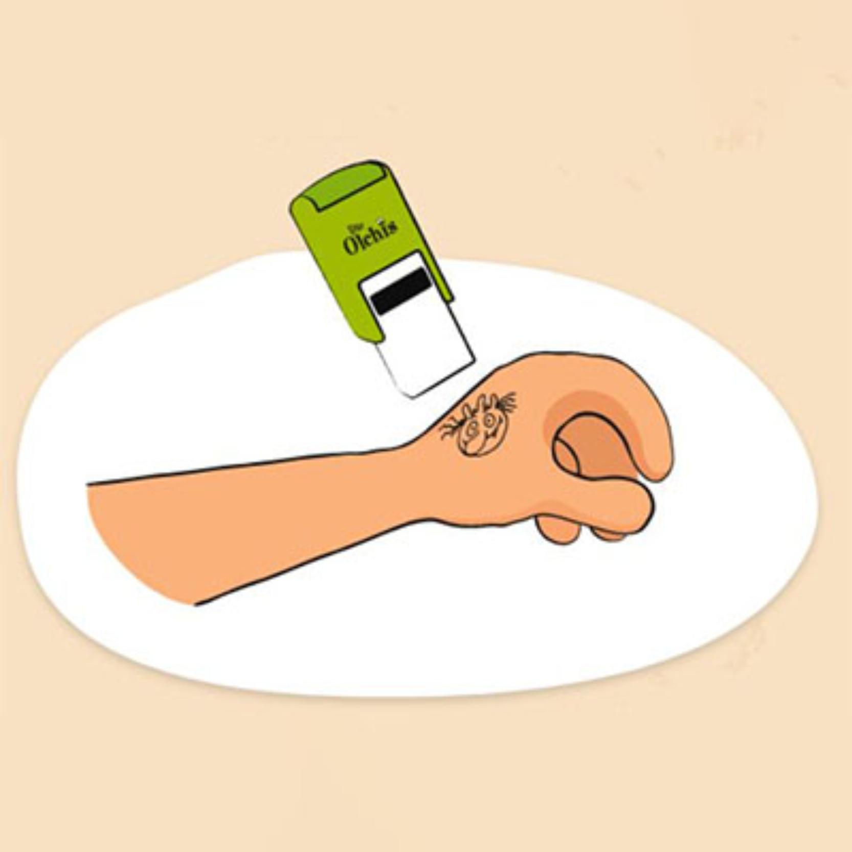 Der Schmuddelpfoten-Stempel motiviert Kinder sich mehrmals täglich und möglichst gründlich die Hände zu waschen.