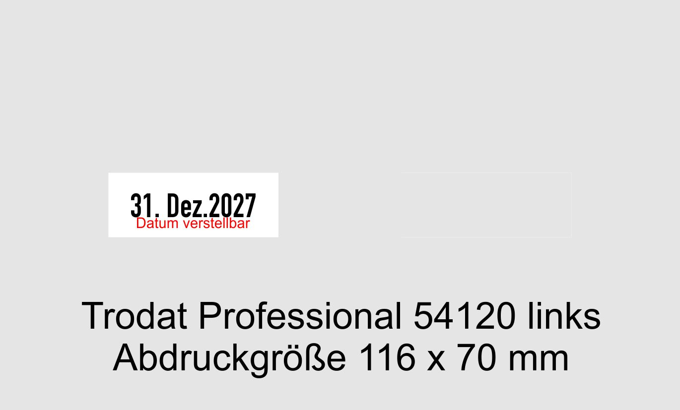 Abdruckgroesse-116x70mm-Trodat Professional 54120-Textstempel-mit Datum verstellbar links