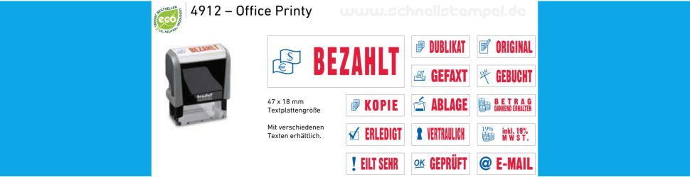 Office Printy fertige Musterstempel mit Symbole