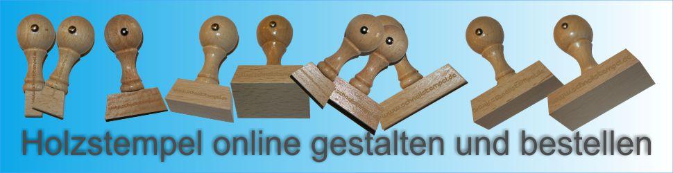 Holzstempel bestellen und online gestalten
