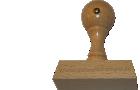 Holzstempel 25 mm Länge bis 100 mm Breite gestalten