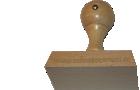 Holzstempel 40 mm Länge bis 80 mm Breite gestalten