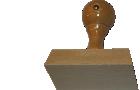 Holzstempel 60 mm Länge bis 100 mm Breite gestalten