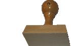 Holzstempel 55 mm Länge bis 80 mm Breite gestalten