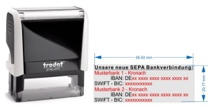 4913 Trodat Printy SEPA Stempel fuer 2. Bankverbindungen