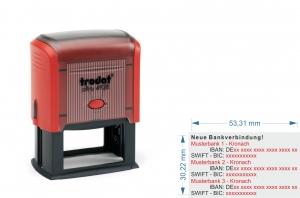 4928 Trodat Printy IBAN SWIFT Neue Bankverbindung Stempel für 3. Bankverbindungen