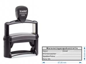 5205 Trodat Professional Wareneingangsstempel KFZ