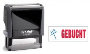 4912 Trodat Office Printy GEBUCHT mit roten Schriftzug und blauen Symbol