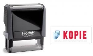 4912 Trodat Office Printy KOPIE mit roten Schriftzug und blauen Symbol