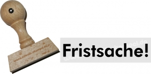 Holzstempel 15 x 60 mm Fristsache