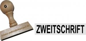 Holzstempel 12 x 60 mm Zweitschrift