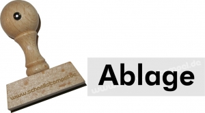 Holzstempel 15 x 50 mm Ablage