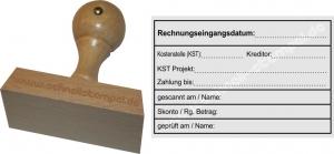 Holzstempel 60x90 Rechnungsstempel Rechnungseingangsdatum Kostenstelle Kreditor