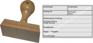 Holzstempel 60x90 Kostenträger Kostenstelle Konditionen