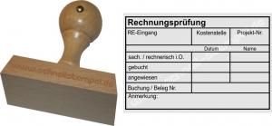 Holzstempel 60x90 Rechnungsprüfung Kostenstelle Projektnummer