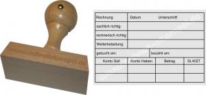 Holzstempel 60x90 Kontierungsstempel Soll Haben Konto