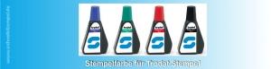7011 Trodat Stempelfarbe in der Farben Schwarz, Blau, Rot, Grün und Violett