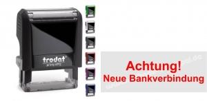 4912 Stempel Trodat Printy Achtung Neue Bankverbindung