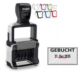5430 Stempel Trodat Professional 4.0 Gebucht