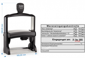 54120-R Stempel Trodat Professional Wareneingangskontrolle