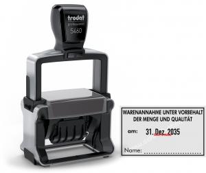 5460 Trodat Professional Stempel Warenannahme unter Vorbehalt der Menge und Qualität