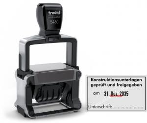 5460 Stempel Trodat Professional Konstruktionsunterlagen geprüft freigegeben