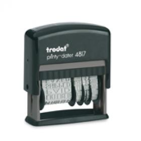 4817 Stempel Trodat Printy Classic Wortbandstempel mit Wochentag und Datum verstellbar