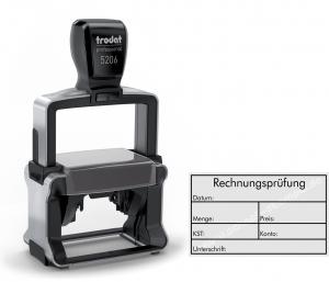 5206 Stempel Trodat Professional Rechnungsprüfung-Datum-Menge-Preis-Kostenstelle-Konto-Unterschrift