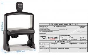 54120L Trodat Professional Rechnungskontrolle Kostenstelle, Lieferantennummer, Zahlungsmittel -EC -Bar -Überweisung -Lastschrift -Kreditkarte -PayPal