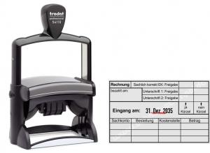 54110 Trodat Professional Rechnungskontrolle Einkauf, Sachkonto, Bestellung, Kostenstelle, Betrag