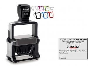 5480 Trodat Professional 4.0 NEU Stempel Wareneingangskontrolle Wareneingang vorbehaltlich Menge und Qualität