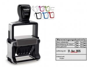 5480 Trodat Professional 4.0 NEU Stempel Wareneingangskontrolle Unterschrift Prüfer