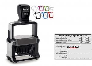 5480 Trodat Professional 4.0 NEU Wareneingangskontrolle Unterschrift Fahrer/Lieferant Prüfer