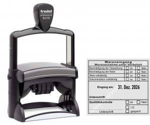 54110 Trodat Warenannahme unter Vorbehalt Dokumentation Qualitätskontrolle