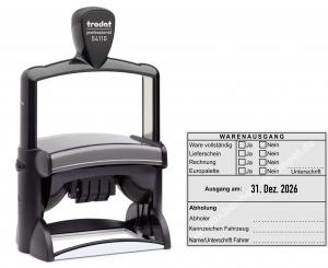 54110 Trodat Professional Warenausgangsstempel-Ware vollständig-Lieferschein-Rechnung-Europalette-Unterschrift-Kennzeichen Fahrzeug