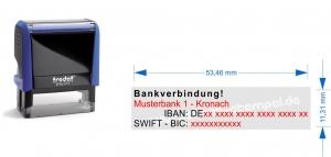 4913  Trodat Printy 1. Bankverbindung