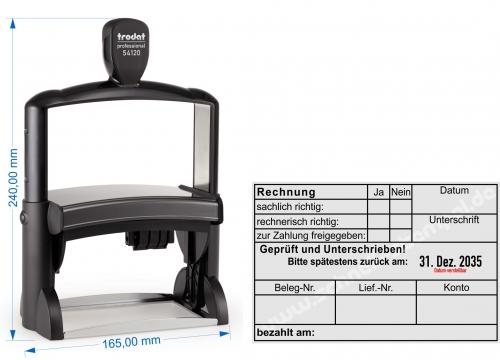 stempel rechnung bezahlt am von. Black Bedroom Furniture Sets. Home Design Ideas