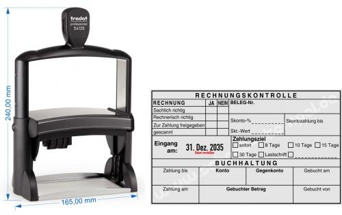 stempel rechnungskontrolle buchhaltung zahlungsziel. Black Bedroom Furniture Sets. Home Design Ideas
