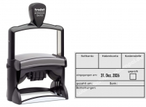 54110 Trodat Professional Buchungsstempel Sollkonto-Habenkonto-Kostenstelle
