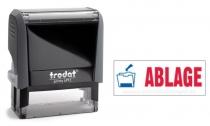 4912 Trodat Office Printy ABLAGE mit roten Schriftzug und blauen Symbol