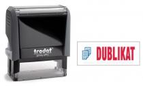 4912 Trodat Office Printy DUBLIKAT mit roten Schriftzug und blauen Symbol