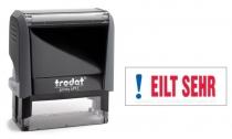 4912 Trodat Office Printy EILT SEHR mit roten Schriftzug und blauen Symbol