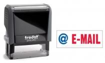 4912 Trodat Office Printy E-MAIL mit roten Schriftzug und blauen Symbol