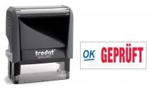 4912 Trodat Office Printy GEPRÜFT mit roten Schriftzug und blauen Symbol
