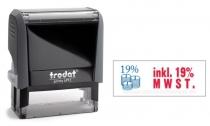 4912 Trodat Office Printy inkl. 19% MWST. mit roten Schriftzug und blauen Symbol