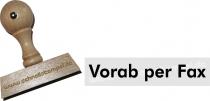 Holzstempel 12 x 60 mm Vorab per Fax