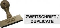 Holzstempel 15 x 60 mm Zweitschrift / Duplicate