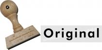 Holzstempel 15 x 60 mm Original