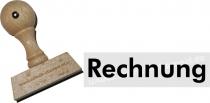 Holzstempel 15 x 60 mm Rechnung