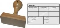 Holzstempel 60x90 Rechnungsstempel Belegnummer erfasst